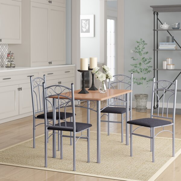 Opalstone 5 Piece Dining Set by Winston Porter