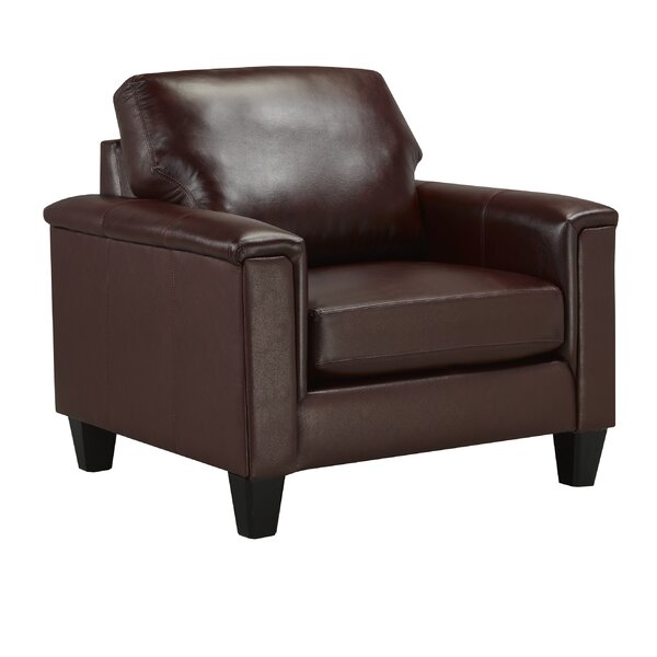 Deboer Top Grain Leather Armchair by Darby Home Co