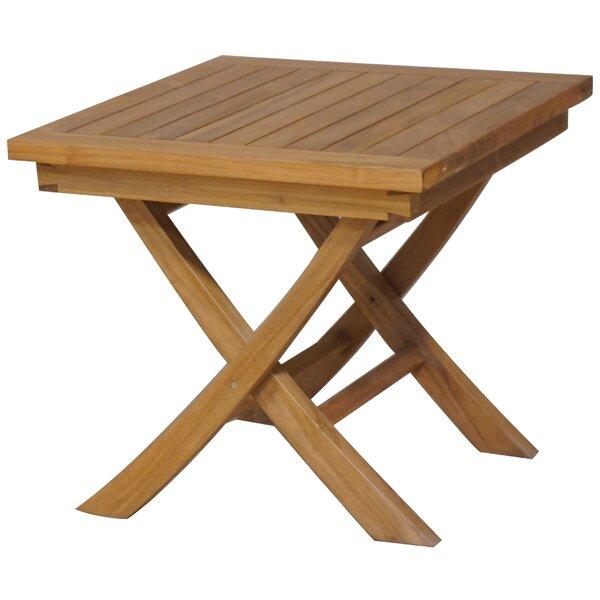 Bressler Folding Solid Wood Side Table by Freeport Park