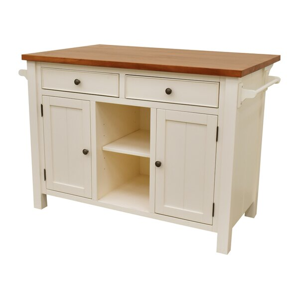 Hearn Extended Counter Kitchen Island by Gracie Oaks