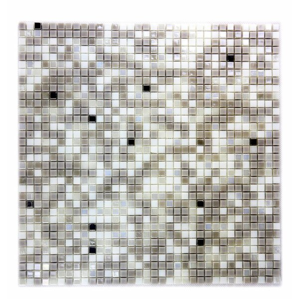 Galaxy Straight 0.31 x 0.31 Glass Mosaic Tile in White Dwarf by Abolos