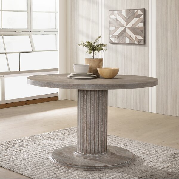 Maxon Wood Pedestal Dining Table by One Allium Way