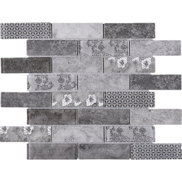 Recycle 1 x 3 Mixed Material Tile in Gray by Multile