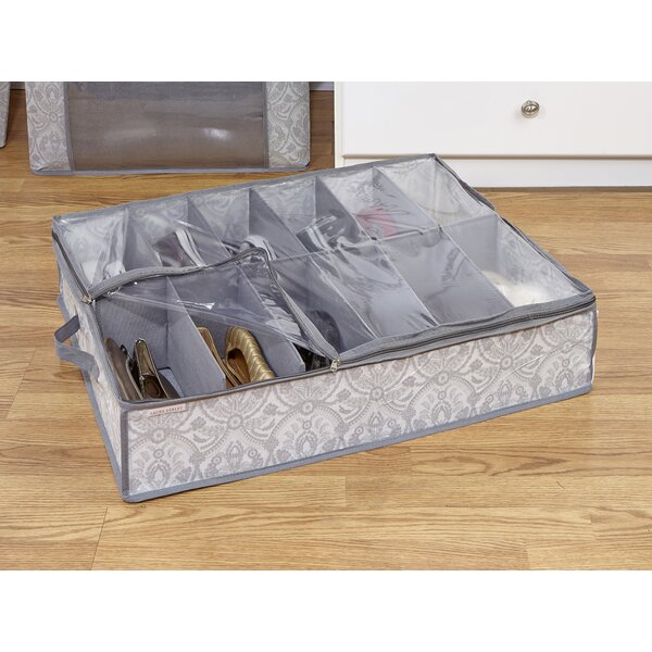 Non Woven 12 Pair Under the Bed Shoe Box by Laura Ashley Home