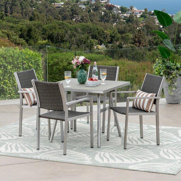 Isabella Outdoor 5 Piece Dining Set by Orren Ellis