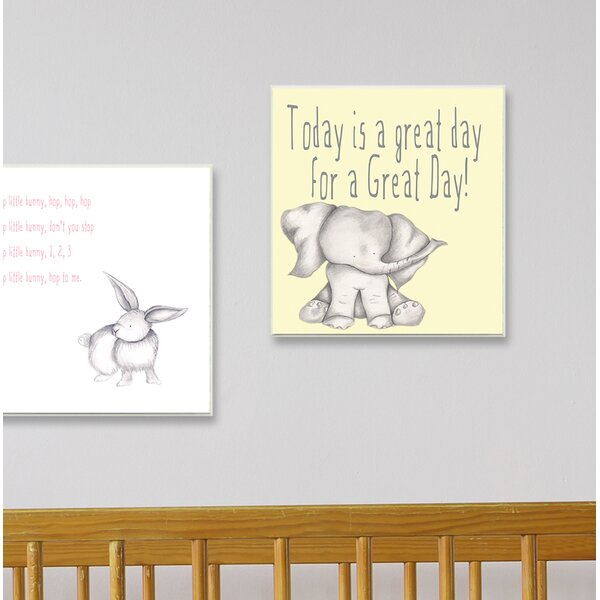 Today Is a Great Day Elephant Canvas Wall Art by Stupell Industries