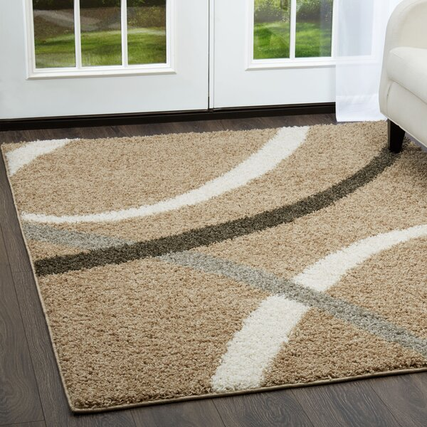 Synergy Beige Area Rug by Nicole Miller