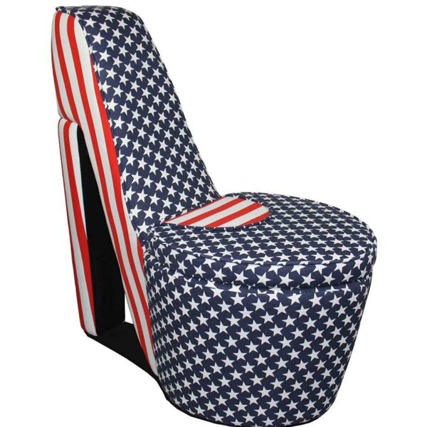 Agustine Flag Print High Heel Shaped Chair Side Chair by Rosdorf Park Rosdorf Park