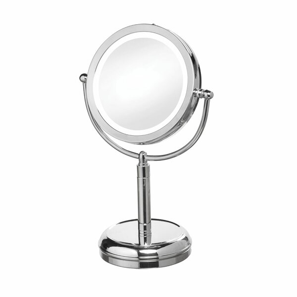 LED Lighted Magnifier Table Mirror by Latitude Run