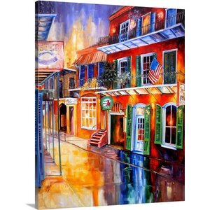'Bourbon Street Red' by Diane Millsap Painting Print on Canvas by Canvas On Demand