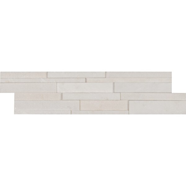 6 x 24 Marble MosaicTile in White by MSI