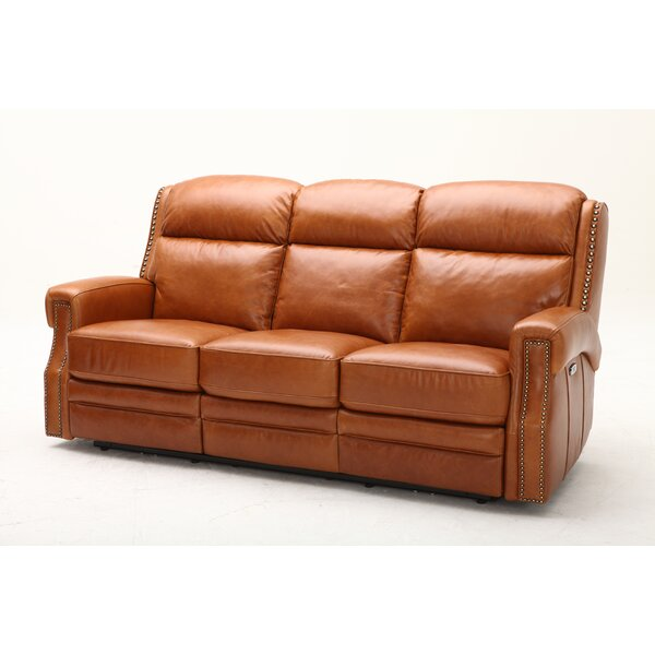 2018 Best Brand Maxwell Leather Reclining Sofa by Southern Motion by Southern Motion