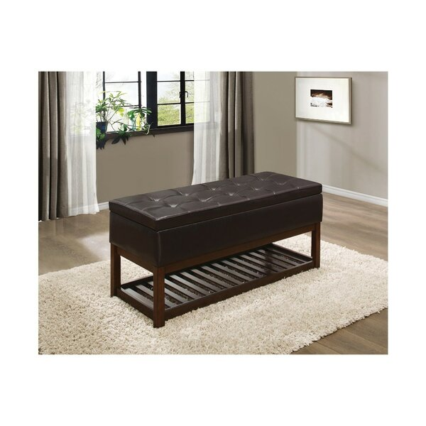 Nora Lift-up Faux Leather Storage Bench by Alcott Hill
