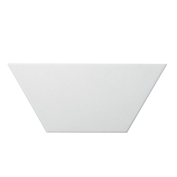 Code Trapezoid 4 x 9 Porcelain Field Tile in White by Emser Tile