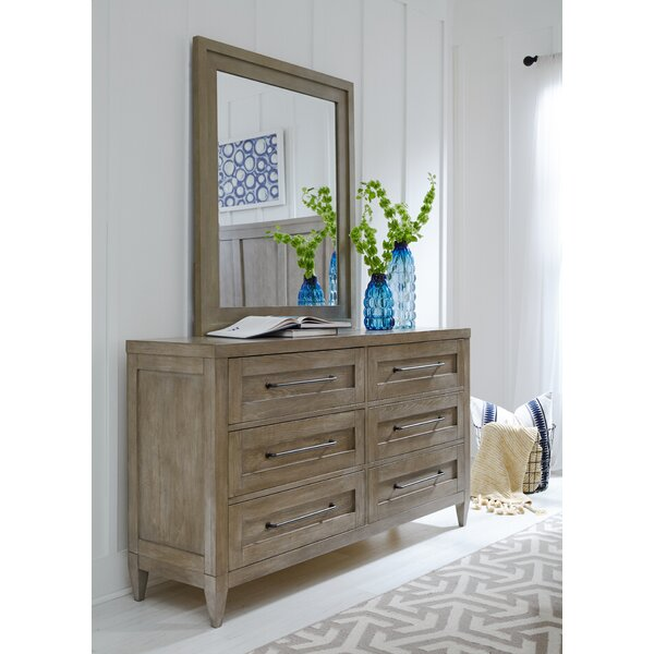 Midville 6 Drawer Dresser with Mirror by Gracie Oaks