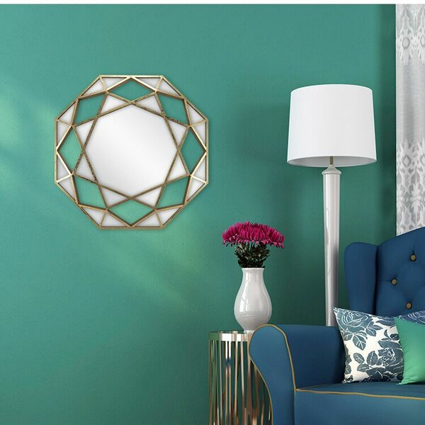 Manufahi Dimensional Octagonal Framed Accent Mirror by Brayden Studio