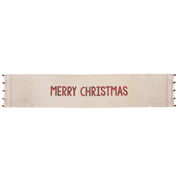 Tartan Merry Christmas Chambray Table Runner by Mud Pie™