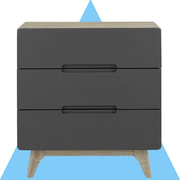 Conrad 3 Drawer Chest by Hashtag Home