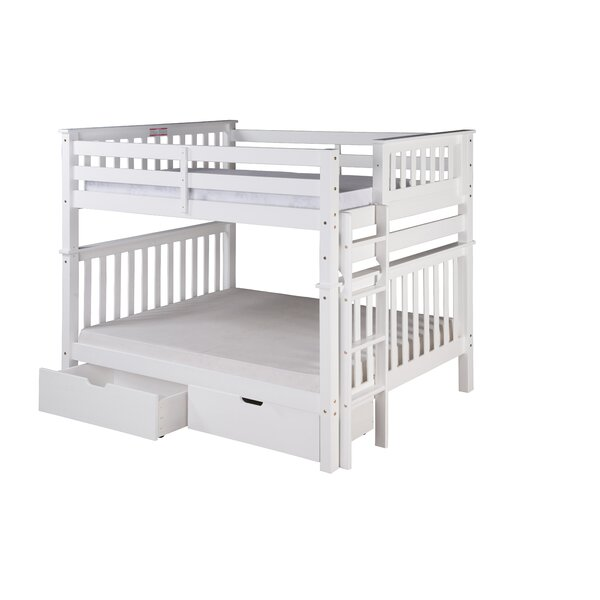 Lindy Mission Tall Bunk Bed with Drawers by Harriet Bee
