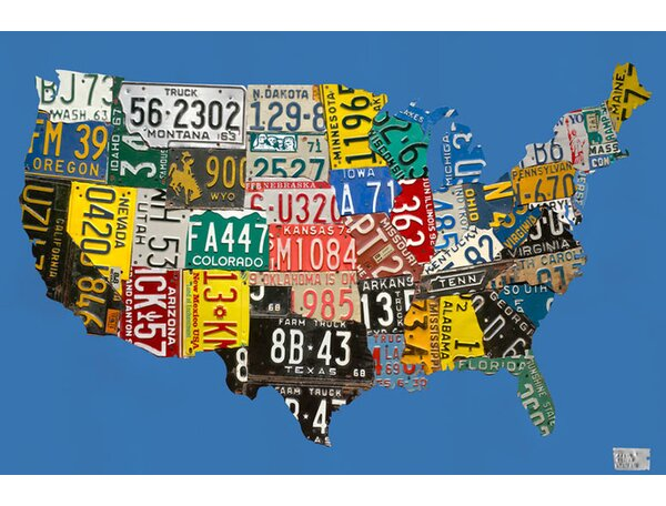 Where Can I Buy License Plate Usa Map Canvas Art By Oopsy Daisy Reviews