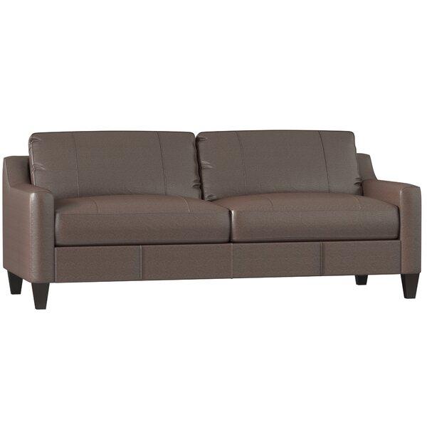 Jesper Leather Sofa by DwellStudio
