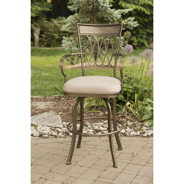 Buffalo 30 Swivel Indoor/Outdoor Patio Bar Stool by Three Posts