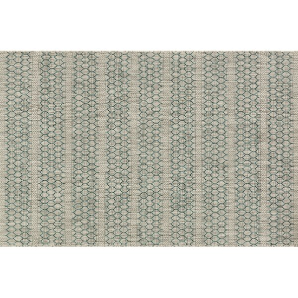 Bundy Gray/Teal Indoor/Outdoor Area Rug by August Grove