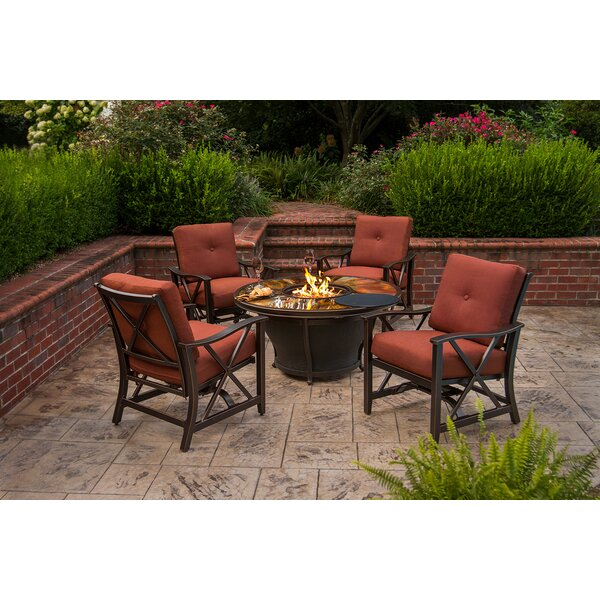 Paxtonville 5 Piece Conversation Set with Cushions by Darby Home Co