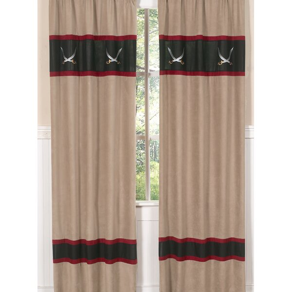 Pirate Treasure Cove Semi-Sheer Rod Pocket Curtain Panels (Set of 2) by Sweet Jojo Designs