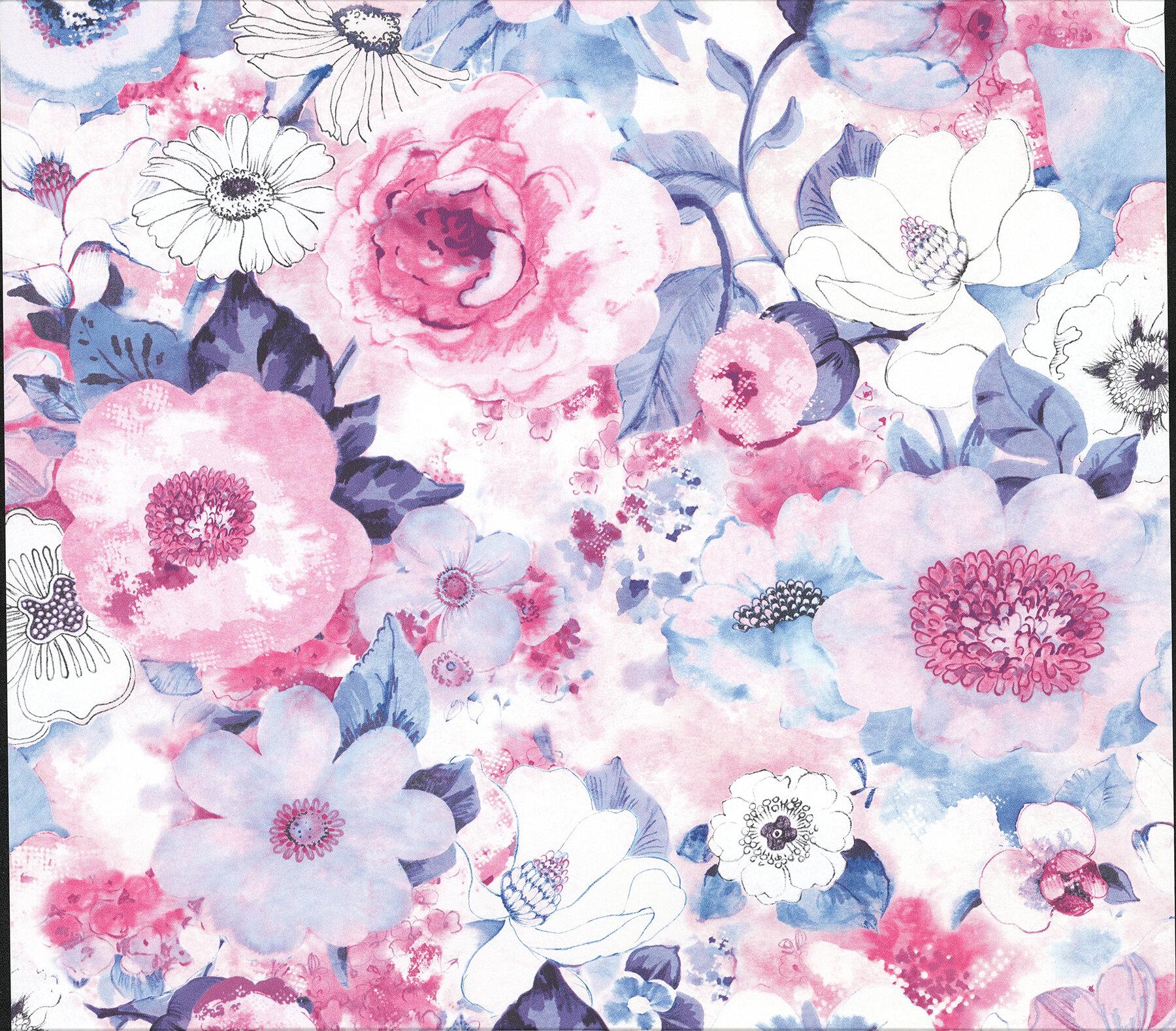 House Of Hampton Baldwin Watercolor Floral 33 L X 20 W Wallpaper