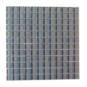 Metro 1″ x 1″ Glass Mosaic Tile in Dark Gray