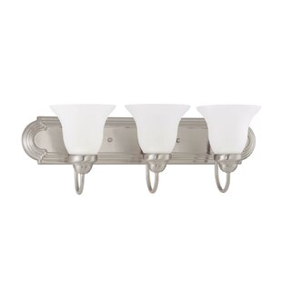 Gurney 3-Light Metal Vanity Light By Three Posts Wall Lights