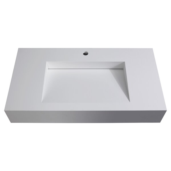Pyramid Stone 35 Wall Mount Bathroom Sink by CastelloUSA