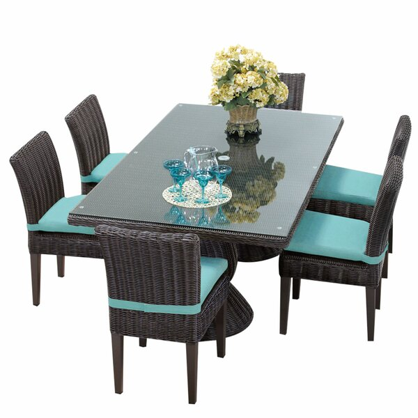 Eldredge 9 Piece Dining Set with Cushions by Rosecliff Heights