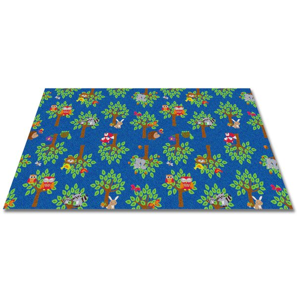 Woodland Wonders Animal Blue/Green Area Rug by Kid Carpet