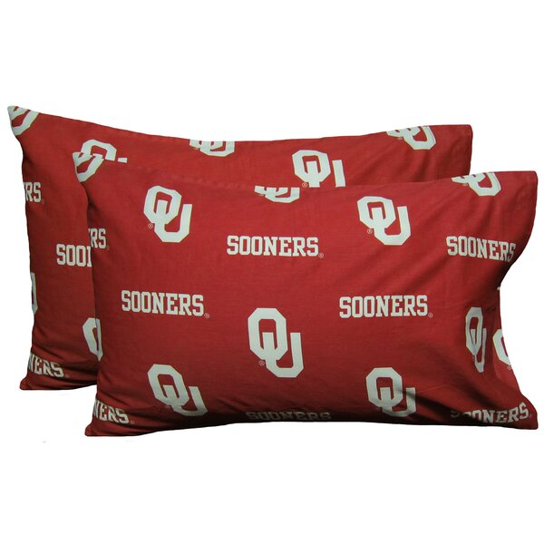 NCAA Oklahoma Sooners Pillowcase (Set of 2) by College Covers