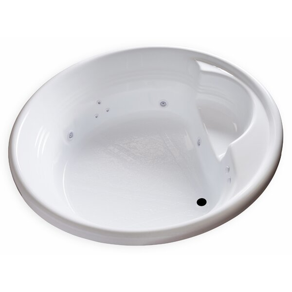 Hygienic Aqua Massage 72 x 72 Whirlpool Bathtub by Carver Tubs