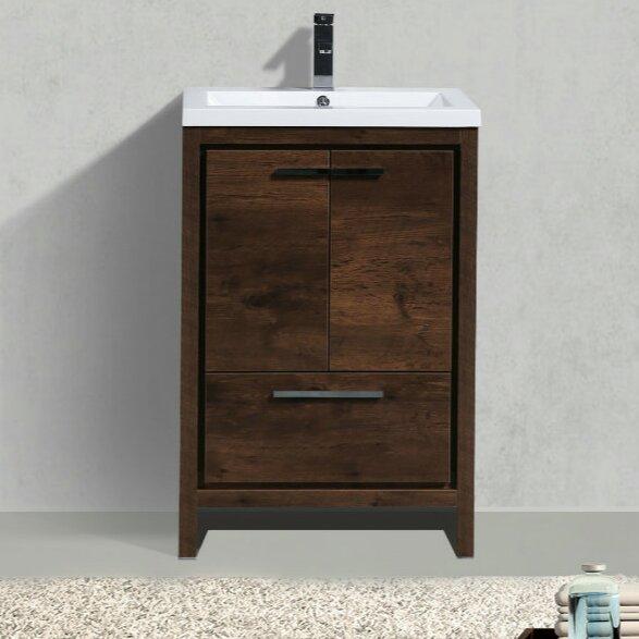 Almendarez Free Standing Modern 24 Single Bathroom Vanity Set by Langley Street