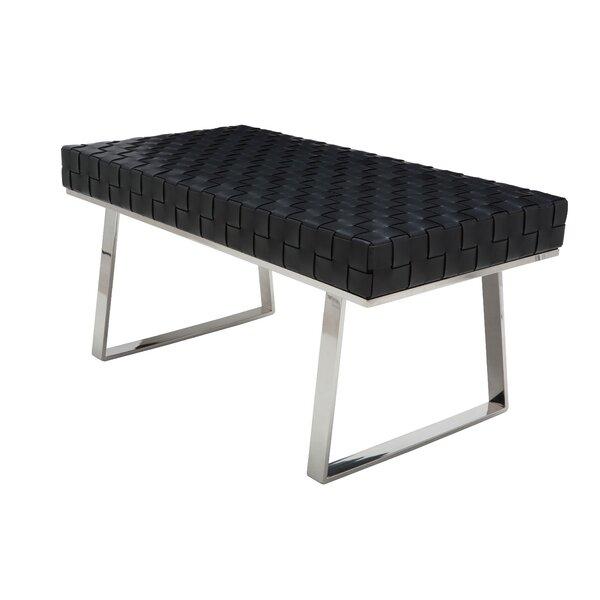 Hyperion One Seat Leather Bench by Orren Ellis Orren Ellis