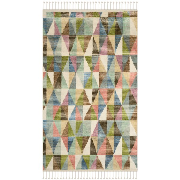 Lohan Hand-Knotted Green/Blue Area Rug by Brayden Studio