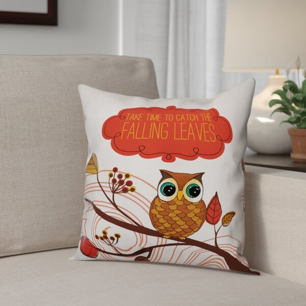 Friendly Fall Reminder Pillow Cover by The Holiday Aisle