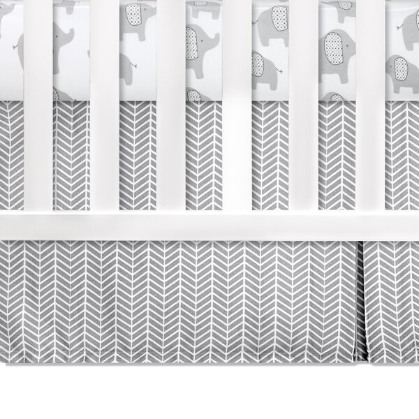 Superior Crib Dust Ruffle by Greyleigh