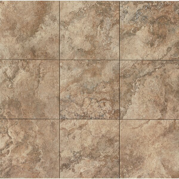 Forge 13 x 13 Porcelain Field Tile in Walnut by Bedrosians