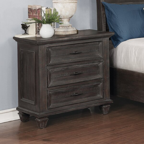 Partain 3 - Drawer Nightstand in Brown by Canora Grey