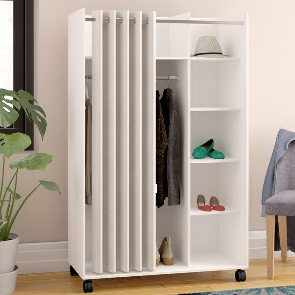 Loke Mobile Curtain Storage Center Armoire by Ebern Designs Ebern Designs