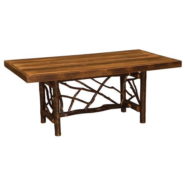 Hickory Twig Log Solid Wood Dining Table by Fireside Lodge