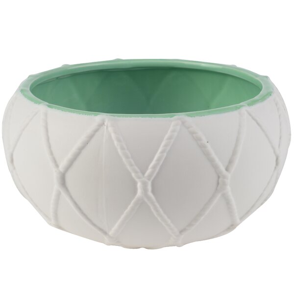 Mill Nautical Knot Ceramic Pot Planter by August Grove