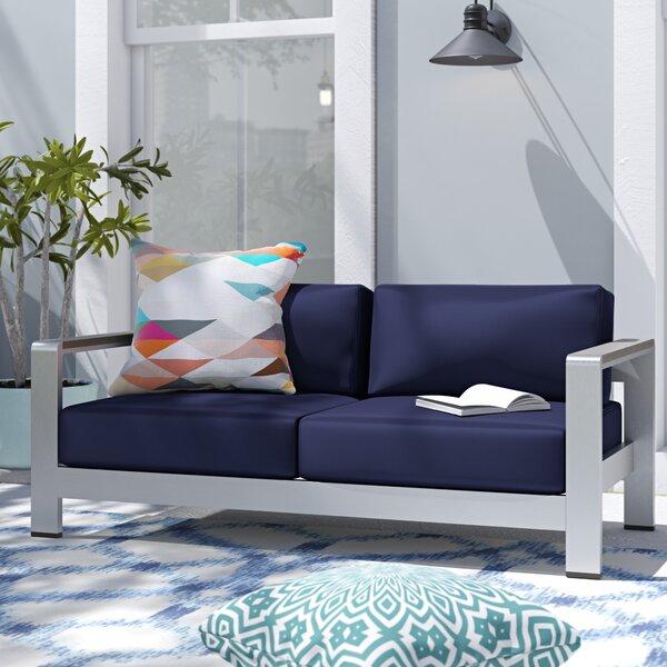 Bristol Loveseat with Cushions by Wade Logan Wade Logan