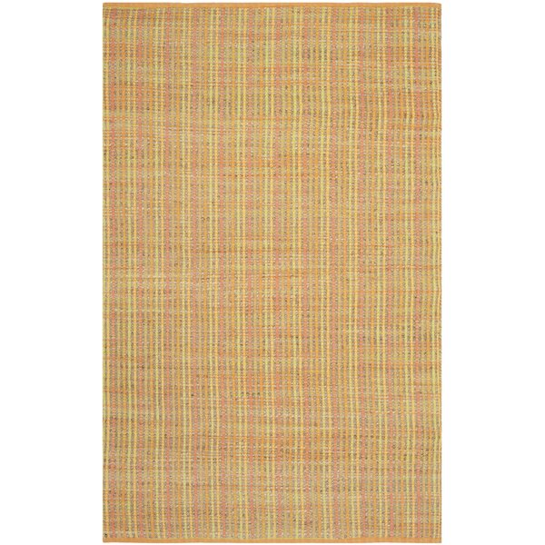 Abia Hand-Woven Yellow Area Rug by Highland Dunes