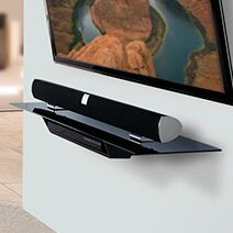 Extra Wide Single Component AV Wall Shelf AV Wall Shelf by OmniMount